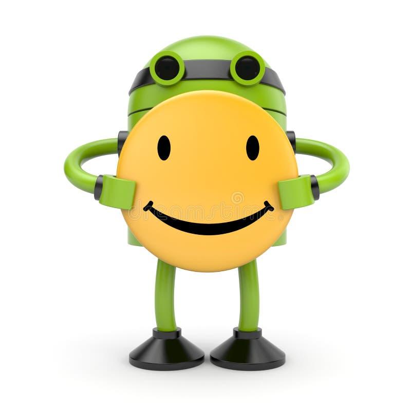 Happy robot royalty free illustration