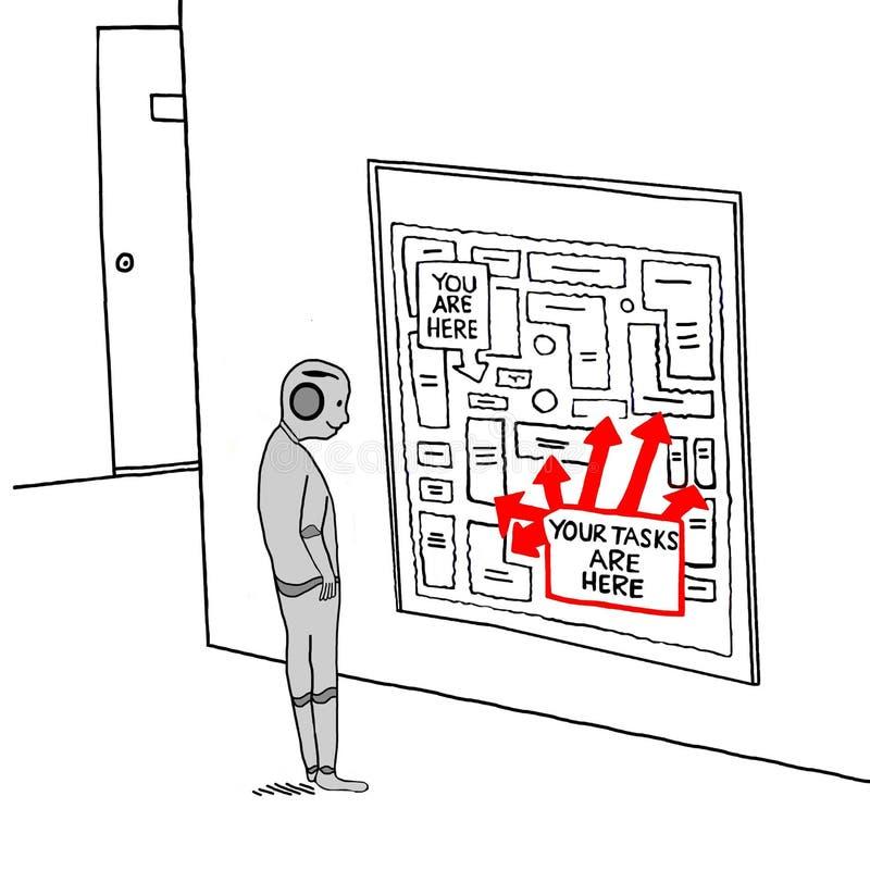 Happy Robot vector illustration