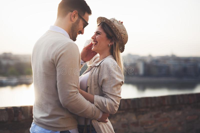 Download Happy Romantic Couple Hugging And Smiling Stock Photo - Image of  relationship, casual: