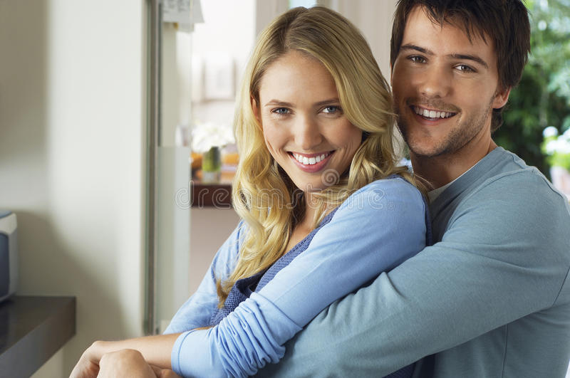 Happy And Romantic Young Couple stock photo