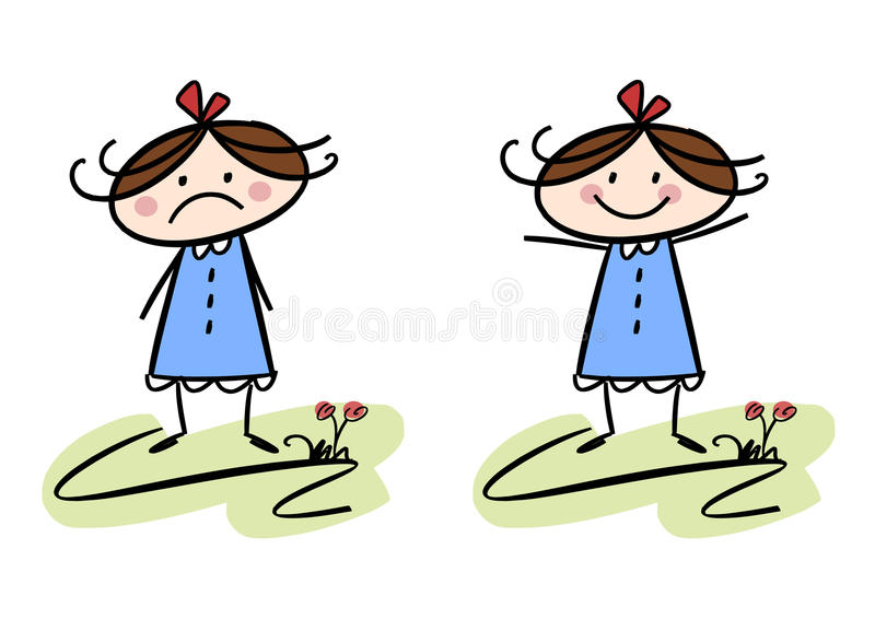 Download Happy and sad stock vector. Image of happiness, dress - 19466980