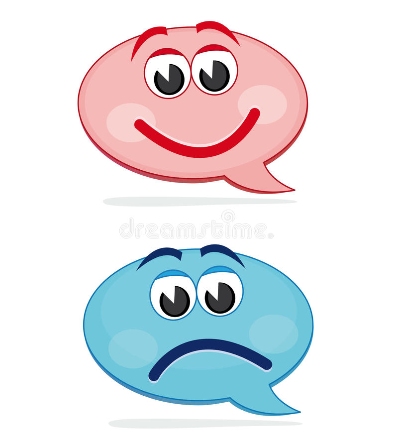 Download Happy And Sad Speech Bubbles Stock Vector - Image: 16081729