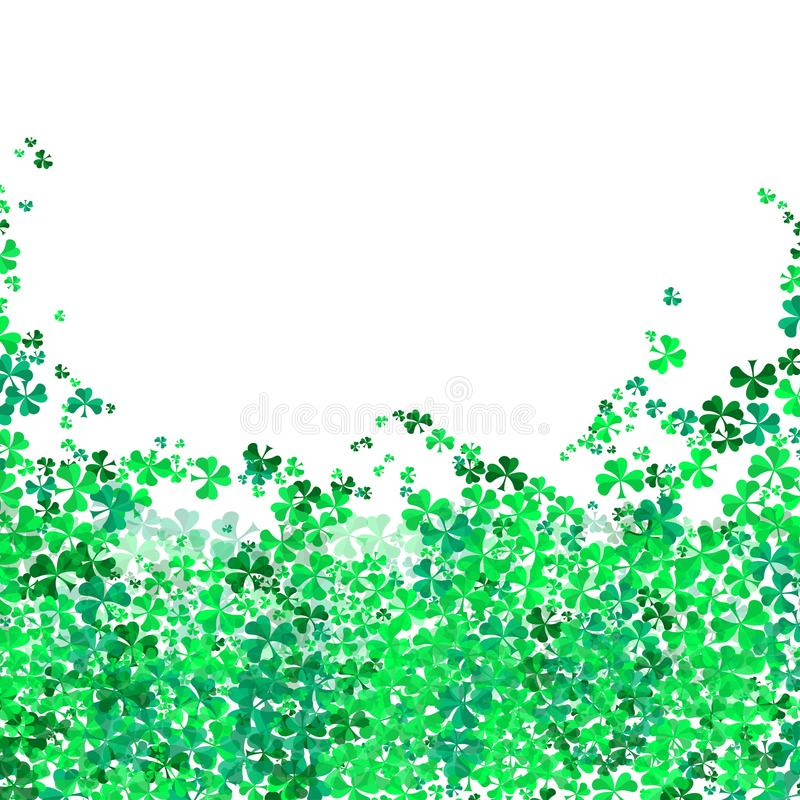 Happy Saint Patrick`s day Festival. Irish celebration .Green clover shamrock leaves on isolate background for poster, greeting car stock photos
