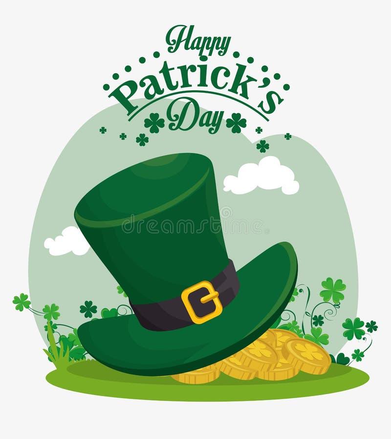 Happy saint patricks day card. Illustration design royalty free illustration
