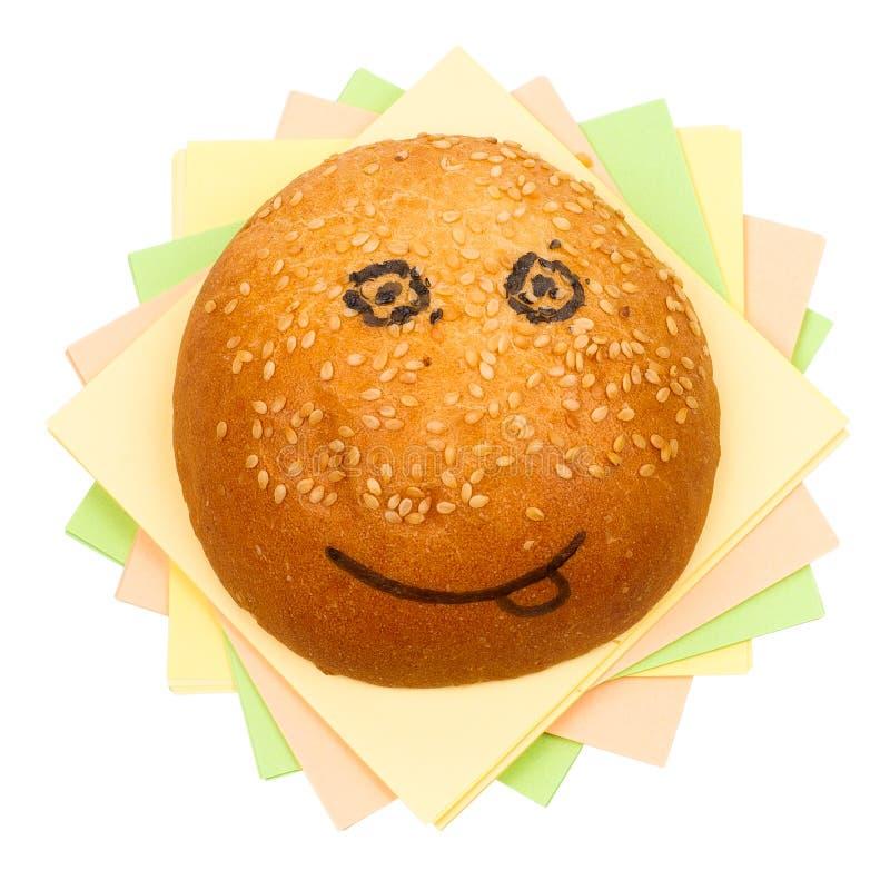 Happy sandwich stock photography