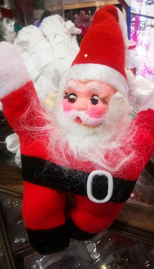 Happy Santa Claus Doll. On Christmas time stock image