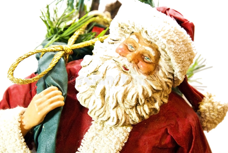 Happy Santa with Gifts royalty free stock images