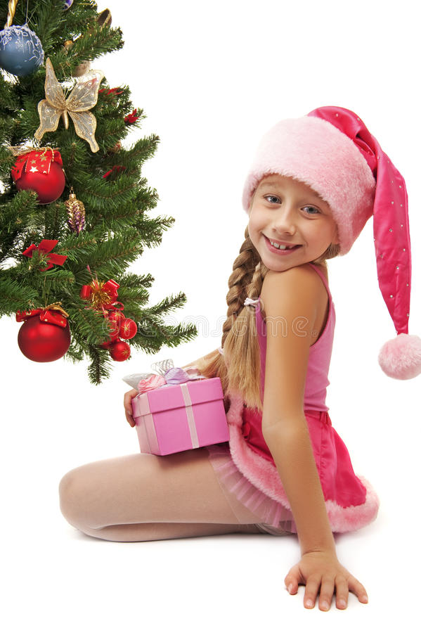 Download Happy Santa girl stock photo. Image of funny, christmas - 11122842