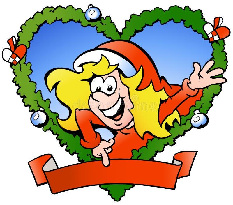 Download Happy santa girl stock vector. Image of fraim, celebration - 25158439
