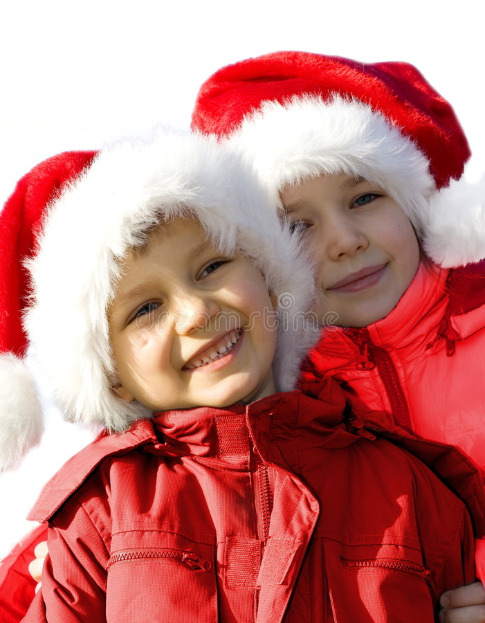 Happy Santas #2. royalty free stock photo