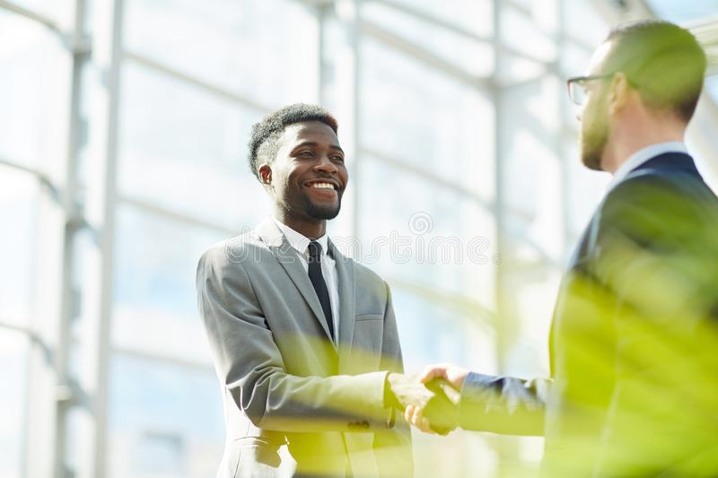 Trust between business partners stock photography