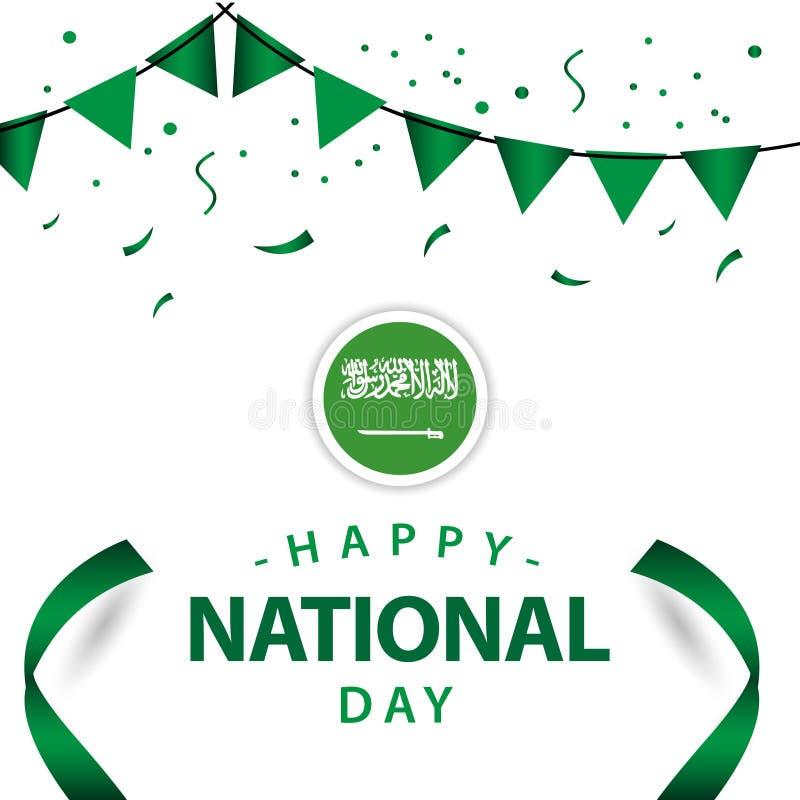 Happy Saudi Arabia National Day Vector Template Design Illustration royalty free illustration