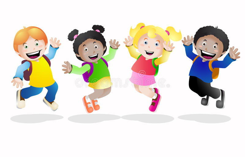 Happy school stock illustration