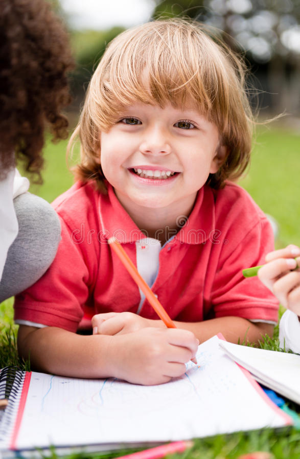 Download Happy school boy stock image. Image of content, hispanic - 33280979