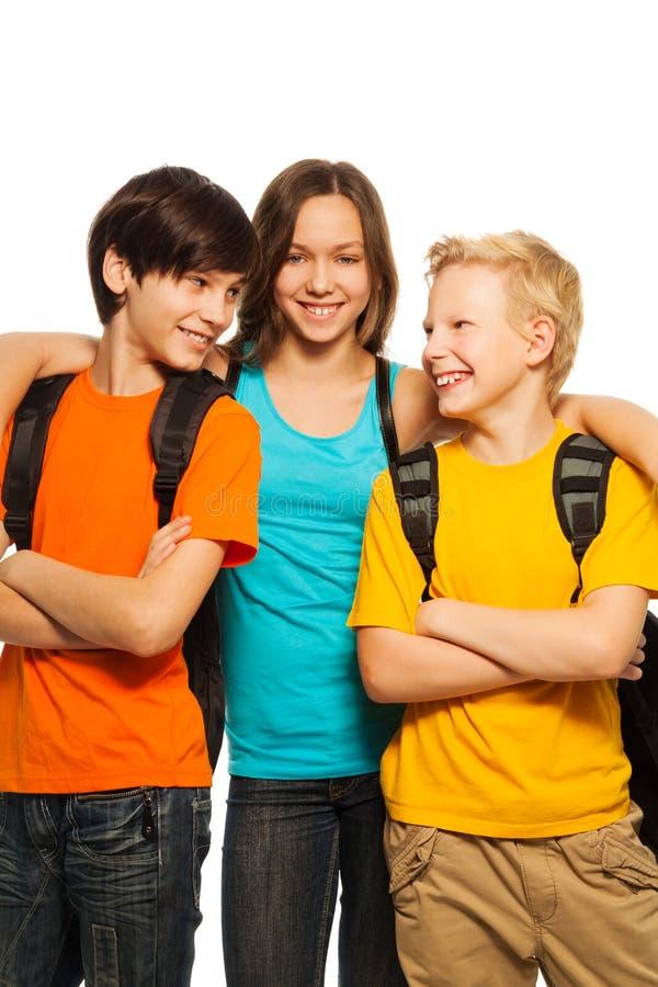 Happy school kids royalty free stock image