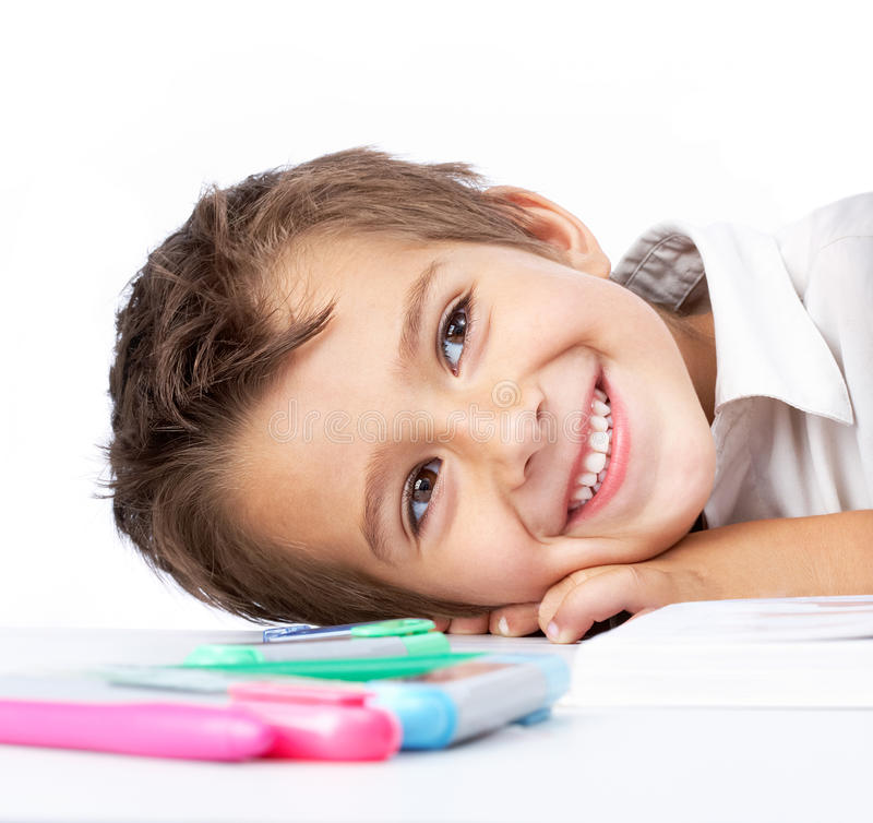 Download Happy schoolboy stock image. Image of education, learning - 18342041