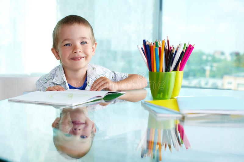Happy Schoolboy Stock Photo