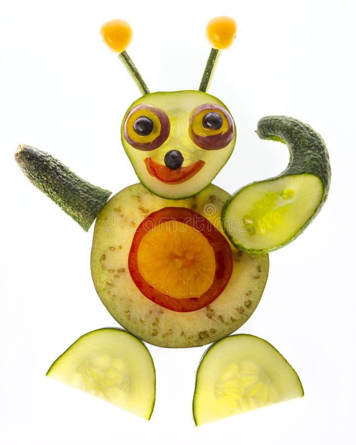 happy sculpture from vegetable stock image