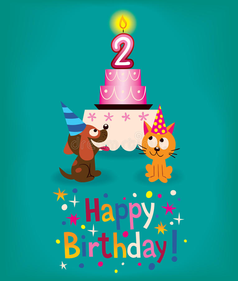 Happy Second Birthday Stock Images