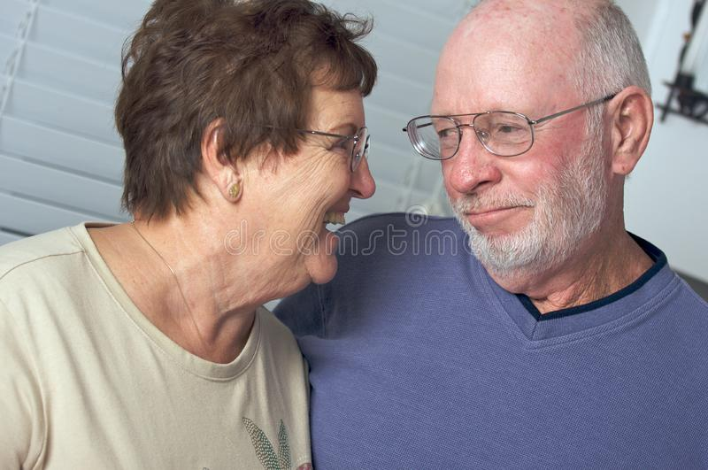 Happy Senior Adult Couple stock photography