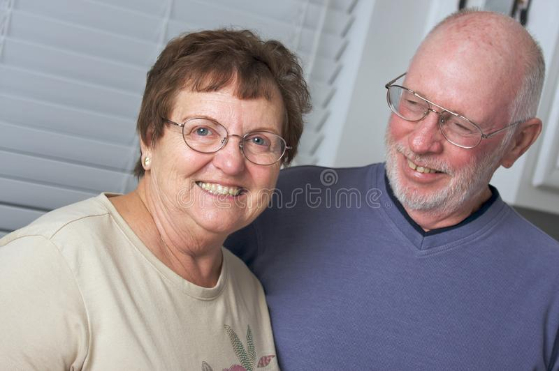 Happy Senior Adult Couple royalty free stock photo