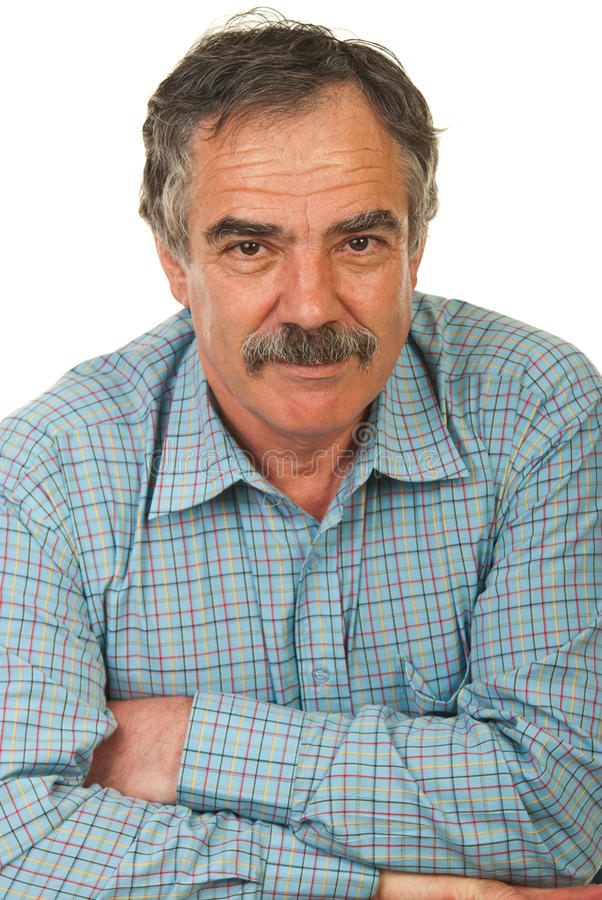 Happy senior business man stock images