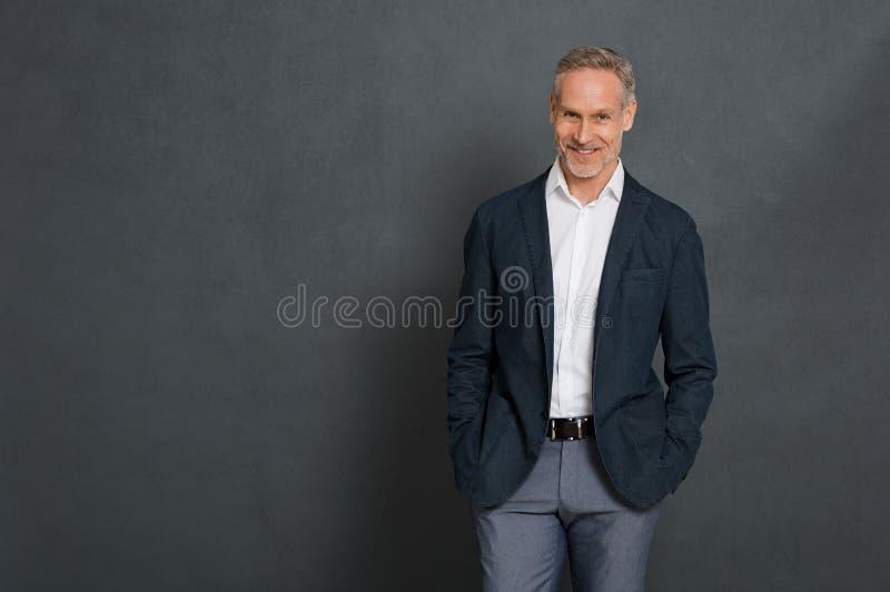 Happy senior businessman royalty free stock images