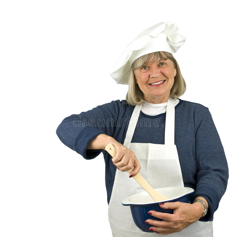 Download Happy Senior Chef stock photo. Image of chef, woman, smiling - 10823164