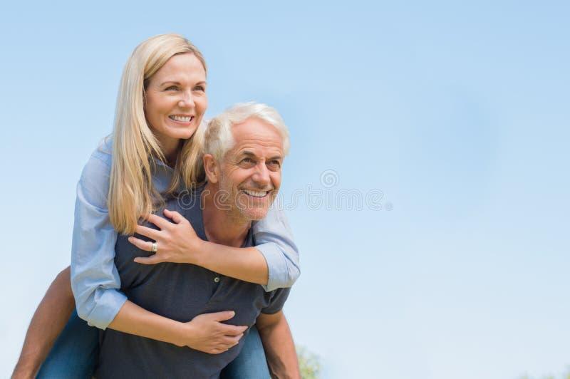Happy senior couple enjoying stock images