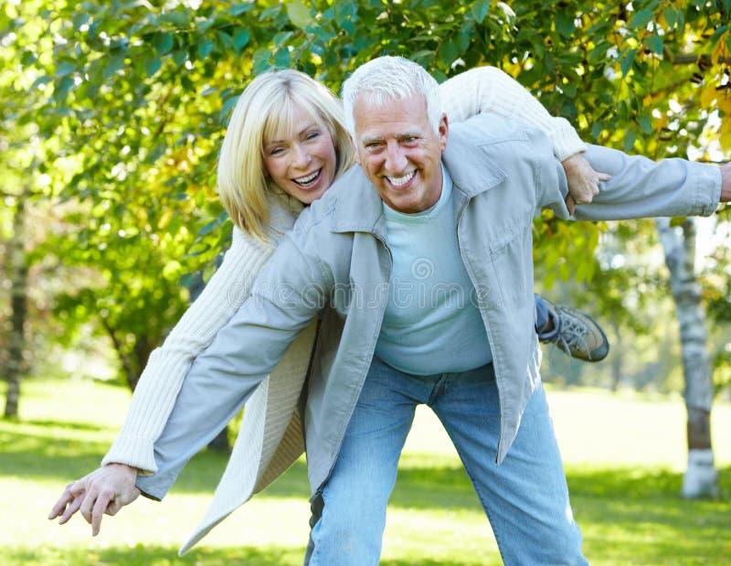 Happy senior couple. stock images