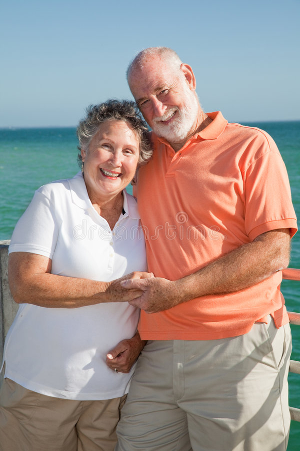 Happy Senior Couple on Holiday royalty free stock images