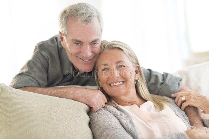 Happy Senior Couple At Home royalty free stock photo