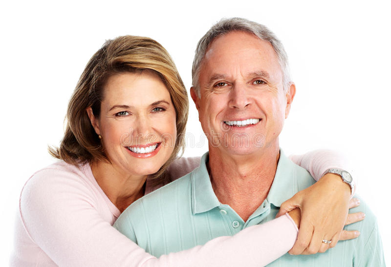Happy senior couple in love. stock photos