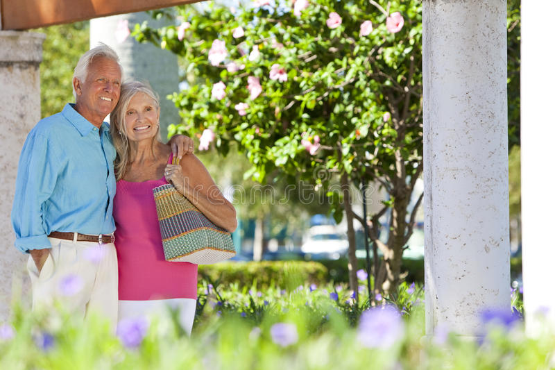 Download Happy Senior Couple Smiling Outside In Sunshine Stock Image - Image of relaxed, cool: 19259225