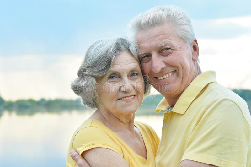 Download Happy senior couple stock image. Image of outdoors, emotions - 41848013