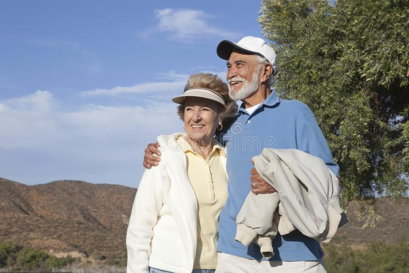 Happy Senior Couple On Vacation stock photos