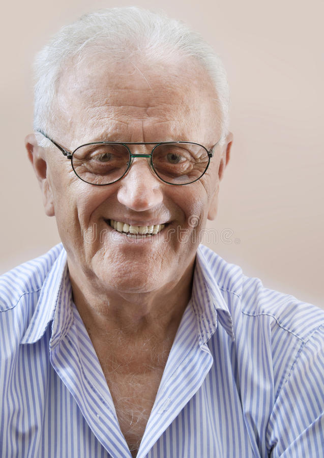 Happy senior man stock image