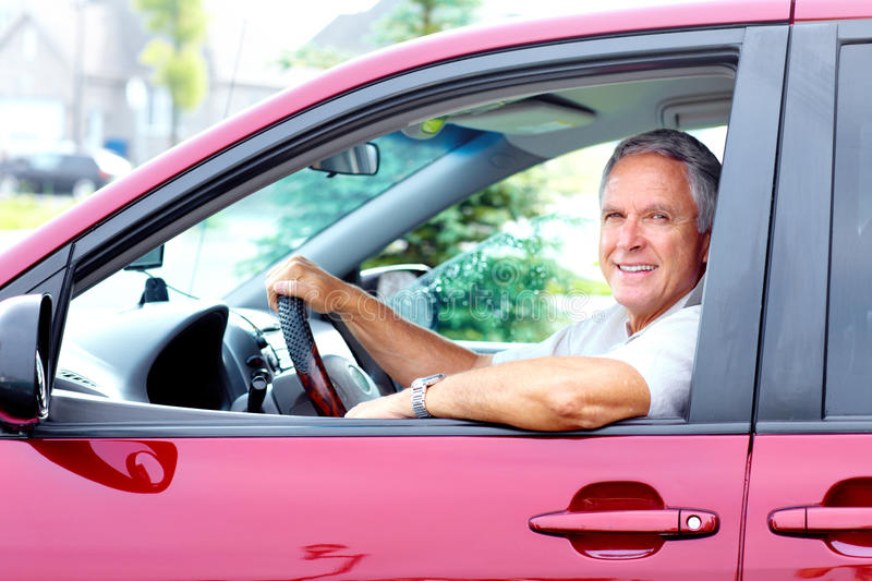 Download Happy Senior Man In The Car. Stock Photo - Image: 35580788