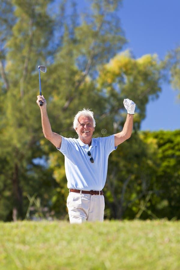 Download Happy Senior Man Celebrating Playing Golf Stock Image - Image: 25356341