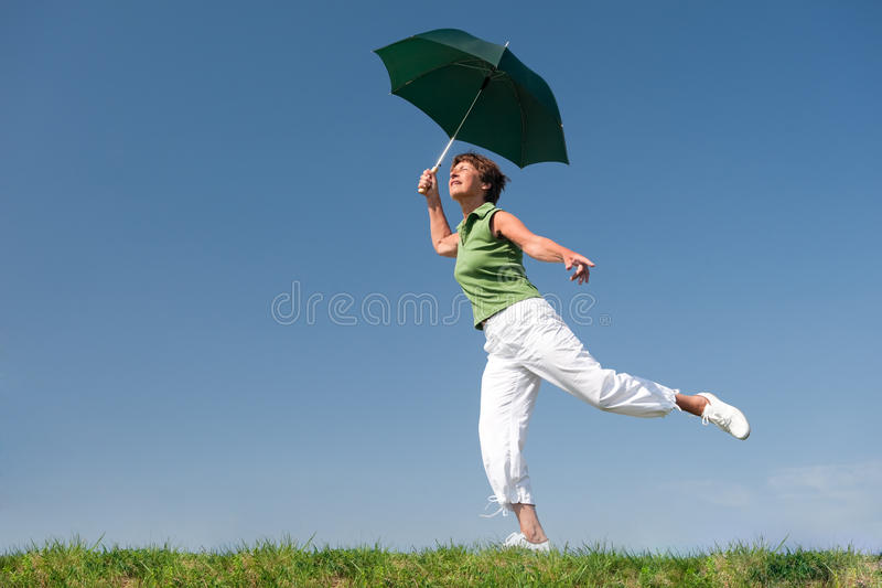 Happy senior woman royalty free stock photography
