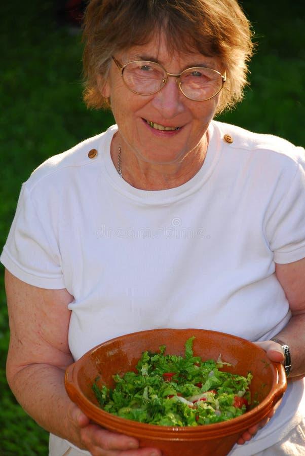 Happy senior woman royalty free stock images