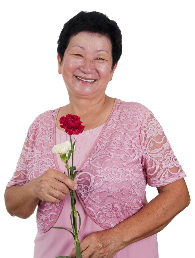 Happy Senior Woman Στοκ φωτογραφία με δικαίωμα ελεύθερης χρήσης