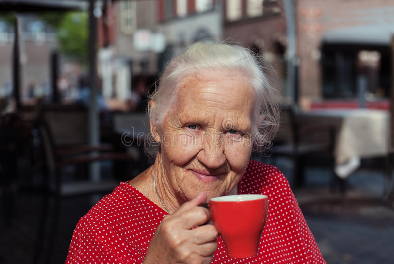 Happy senior woman royalty free stock photos