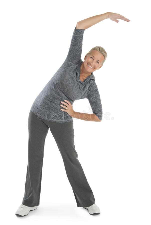 Download Happy Senior Woman Exercising Stock Image - Image: 34512051