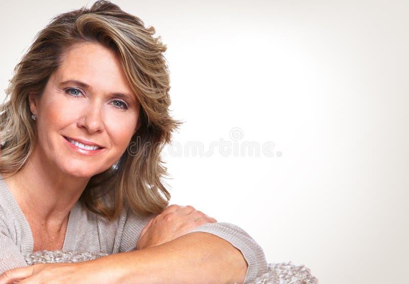 Happy senior woman. royalty free stock photo