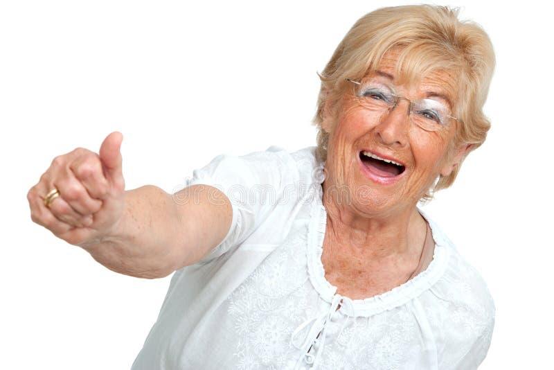 Download Happy Senior Woman Showing Positivity. Stock Photos - Image: 24455663