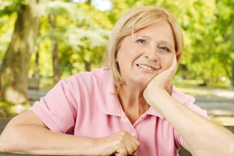 Happy senior women stock photos