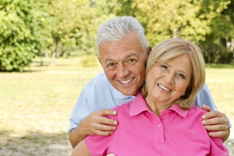 Happy seniors stock images