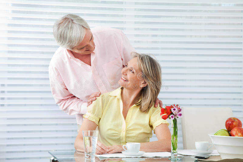 Download Happy seniors at breakfast stock photo. Image of caucasian - 23292826
