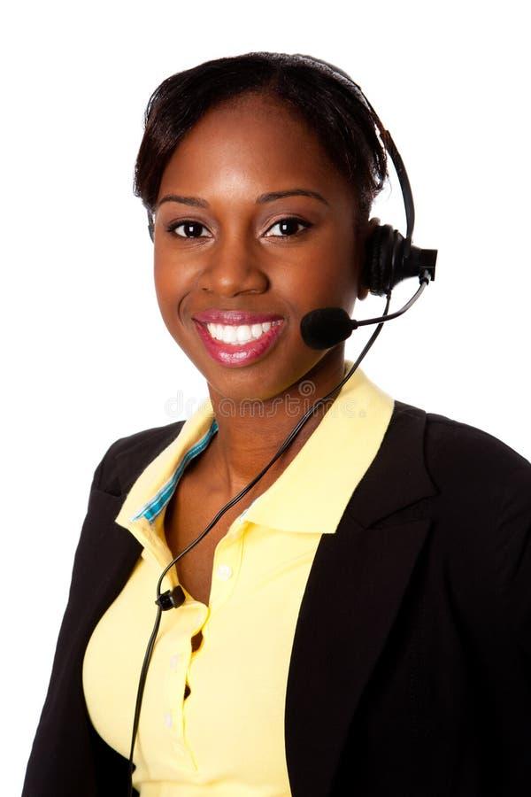 Happy Service Operator stock photo